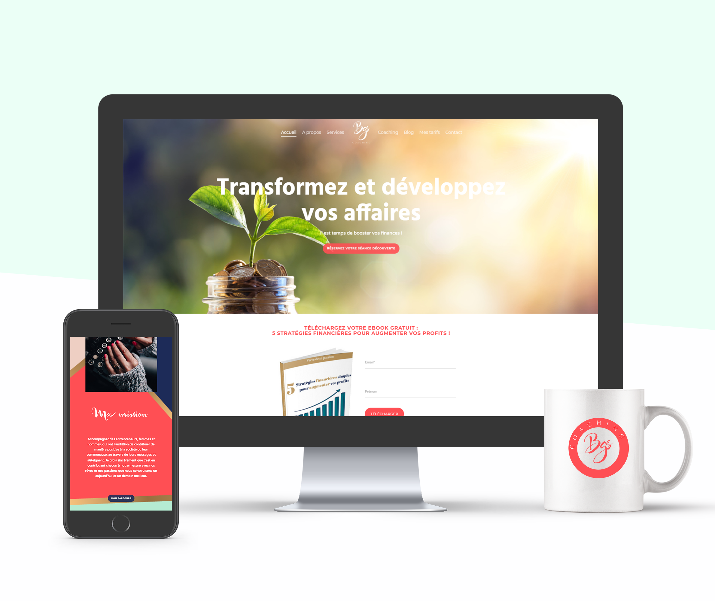 site_web_bgs_coaching_lorem_agence_marketing_angers